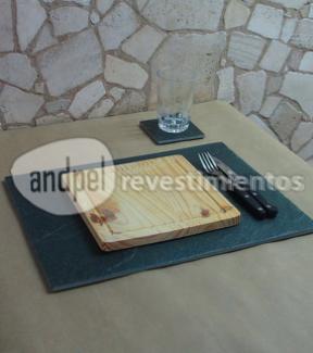 salvamantel individual de laja san luis 40 cm x 30 cm